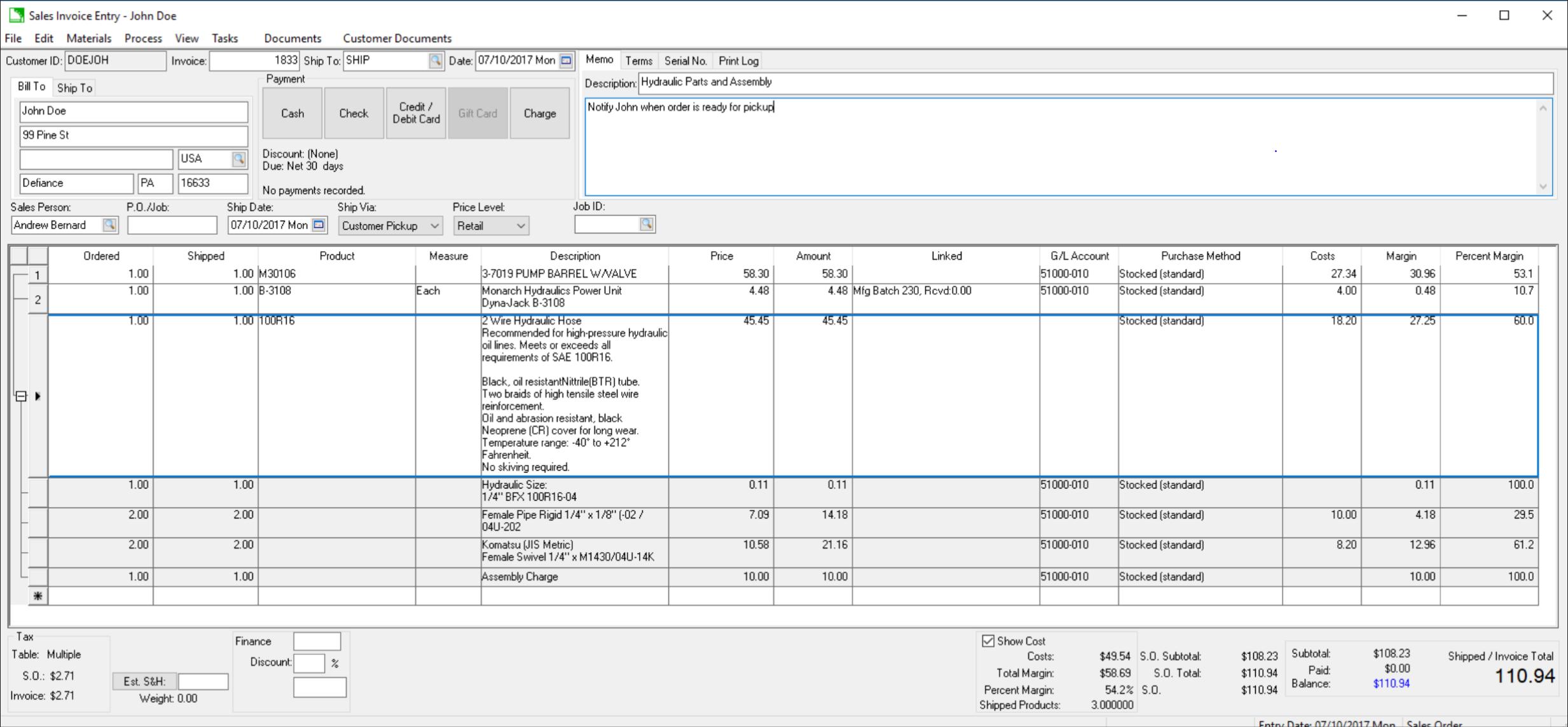 OrderEntryScreen_HydraulicIndustry
